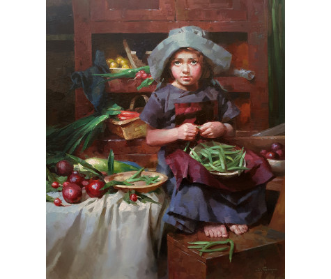 Girl with a pot