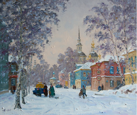 Russian winter. Great Ustug