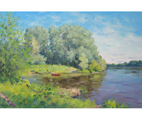 Willows on Dnepr River