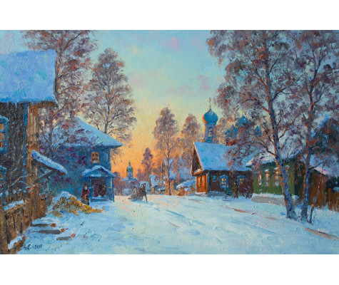 Torzhok, winter evening