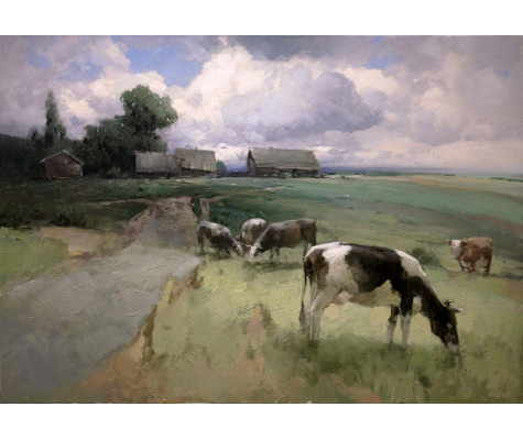 On the outskirts, Cows