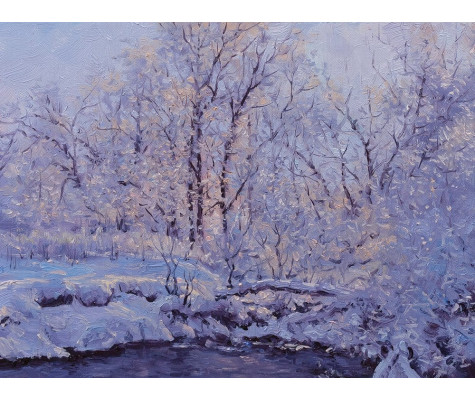 Frost, river