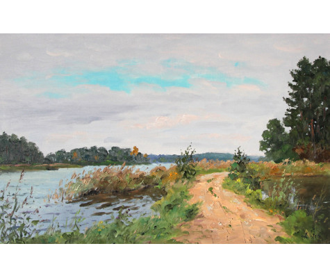 On the shore of Lake Seliger. Summer