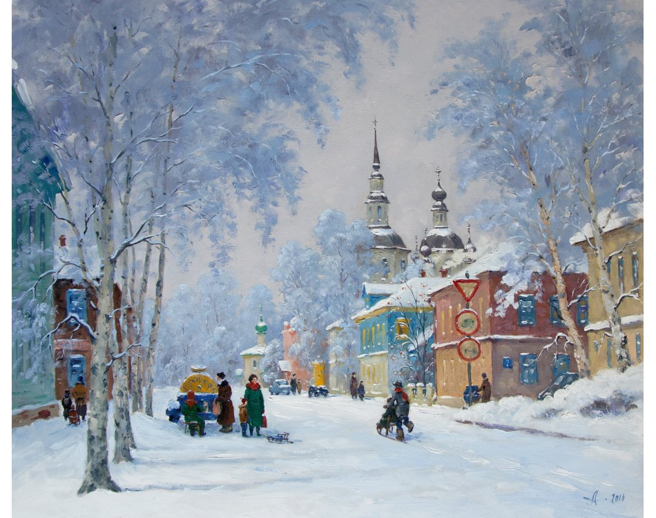 Gallery Winter Landscape Oil Painting Daily Painters