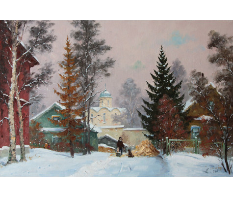 Russian Winter. Old Ladoga
