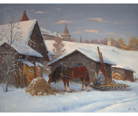 Solovki. Horse. Winter.