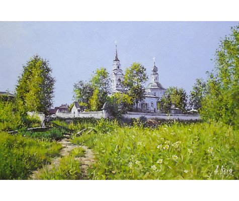 Summer day. Monastery